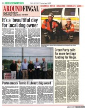 Green Party calls for more heritage funding for Fingal (Fingal Independent, 29 Aug 2017, Page30)