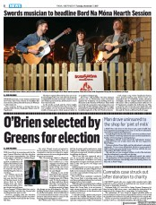 O'Brien selected by Greens for election (Fingal Independent, 7 Nov 2017, Page8)