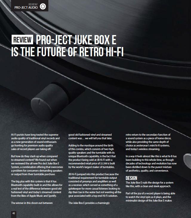 PressReader - SoundMag: 2019-06-24 - Pro-Ject Audio Juke Box E