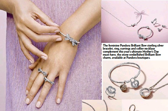 978eeee76 The feminine Pandora Brilliant Bow sterling silver bracelet, ring, earrings  and collier necklace complement this year's ultimate Mother's Day  must-have, ...