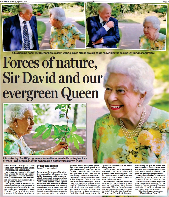PressReader - Daily Mail: 2018-04-10 - Forces of nature, Sir David