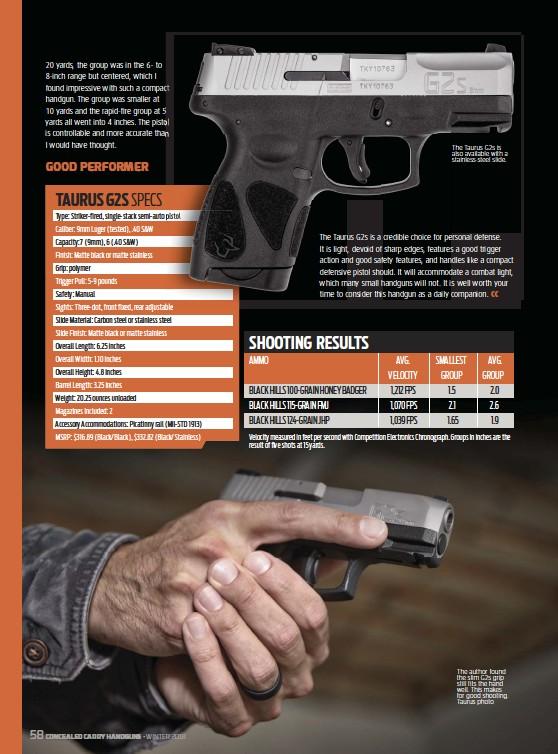 PressReader - Concealed Carry Hand Guns: 2018-11-01