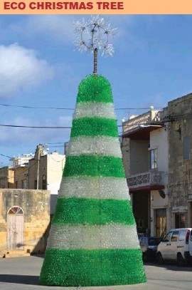 Christmas Tree Recycled Materials Big.Pressreader The Malta Business Weekly 2012 12 27 Eco