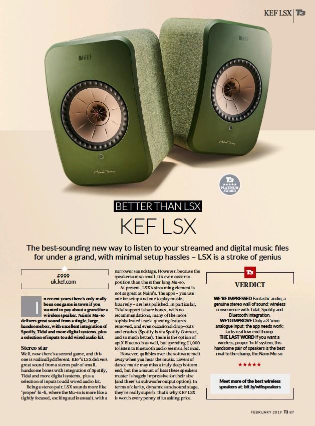 PressReader - T3: 2019-01-22 - Kef LSX