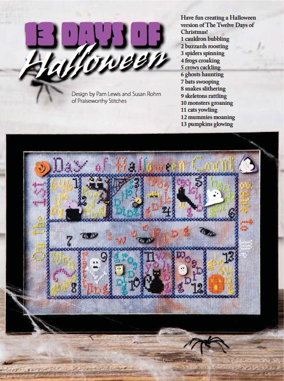 PressReader - Just Cross Stitch: 2017-09-01 - 13 Days of Halloween