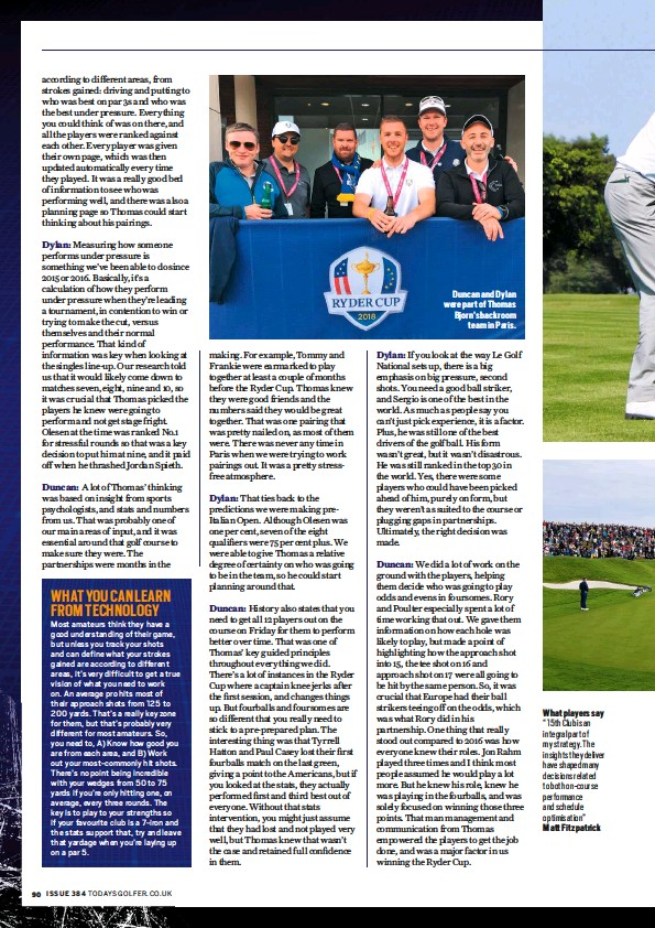 PressReader - Today's Golfer (UK): 2019-04-01 - GOLF ANALYTICS