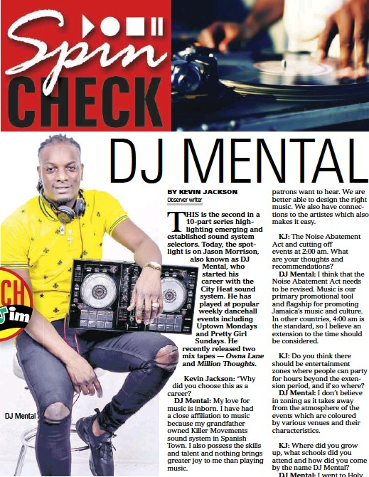 PressReader - Daily Observer (Jamaica): 2019-04-05 - DJ MENTAL