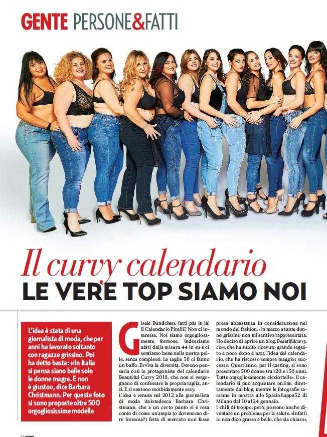 Calendario Donne Formose.Pressreader Gente 2017 12 09 Il Super Calendario Delle