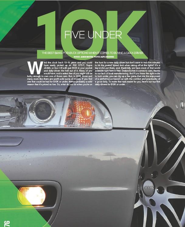 Pressreader Nz Performance Car 2019 04 01 Five Under 10k