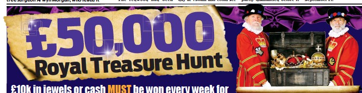 PressReader - Daily Mail: 2019-08-14 - £50,000 TREASURE HUNT