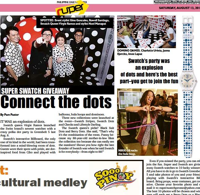 PressReader - Philippine Daily Inquirer: 2011-08-13 - SUPER SWATCH
