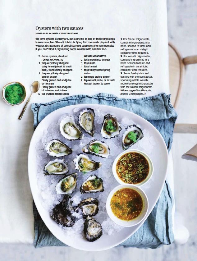 PressReader - Gourmet Traveller (Australia): 2017-11-20 - Oysters