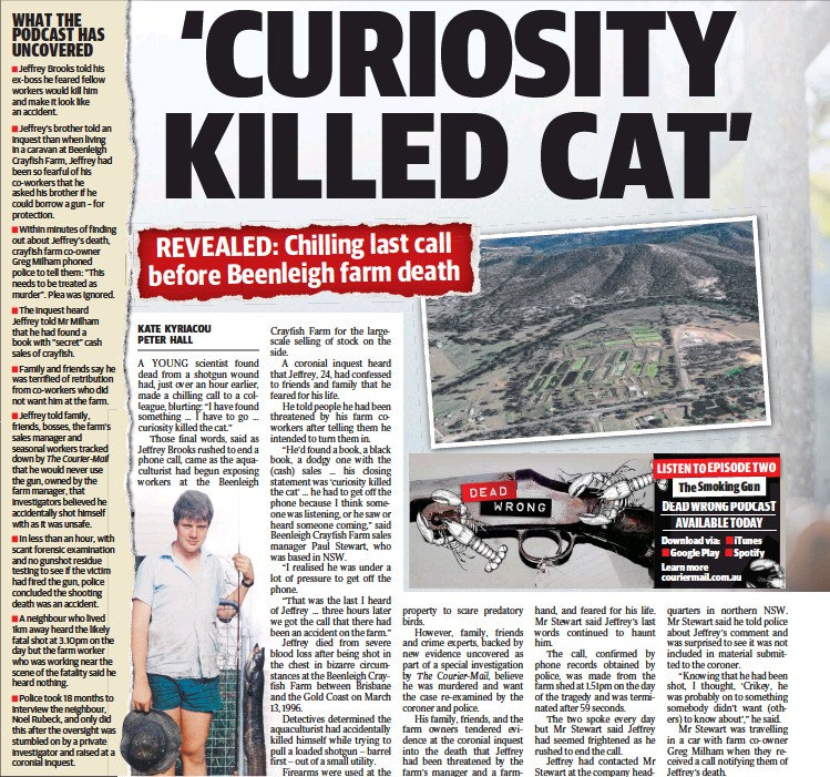 PressReader - The Courier-Mail: 2018-07-18 - His chilling last words