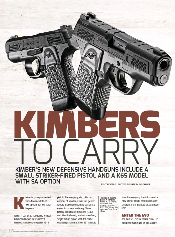 PressReader - Concealed Carry Hand Guns: 2019-02-01 - KIMBERS TO CARRY