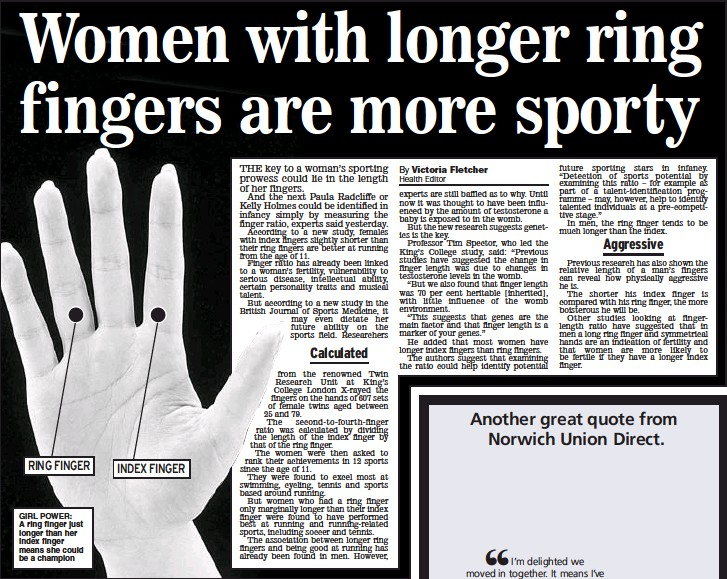 PressReader - Daily Express: 2006-09-28 - Women with longer ring