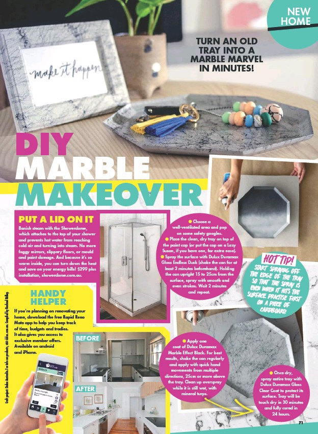 PressReader - New Idea: 2018-06-25 - DIY MARBLE MAKEOVER