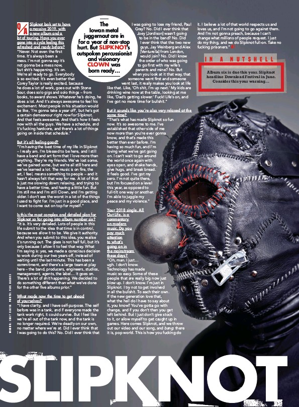 PressReader - Kerrang! (UK): 2019-01-02 - SLIPKNOT
