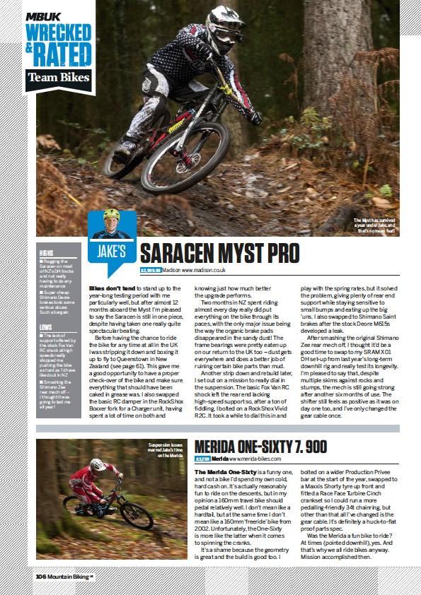 PressReader - Mountain Biking UK: 2015-12-11 - SARACEN MYST PRO
