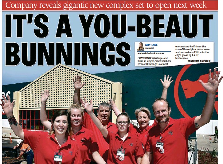 PressReader - The Chronicle: 2017-11-01 - IT'S A YOU-BEAUT BUNNINGS