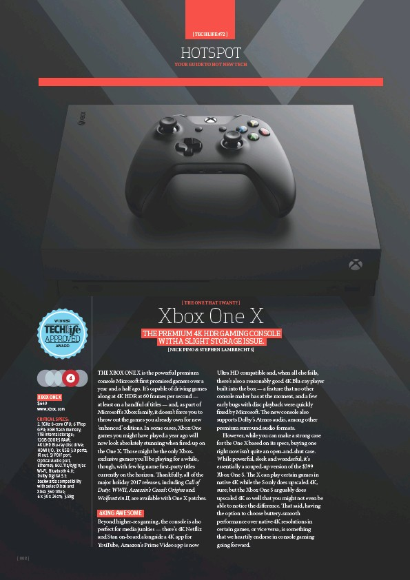 PressReader - TechLife Australia: 2018-01-01 - Xbox One X