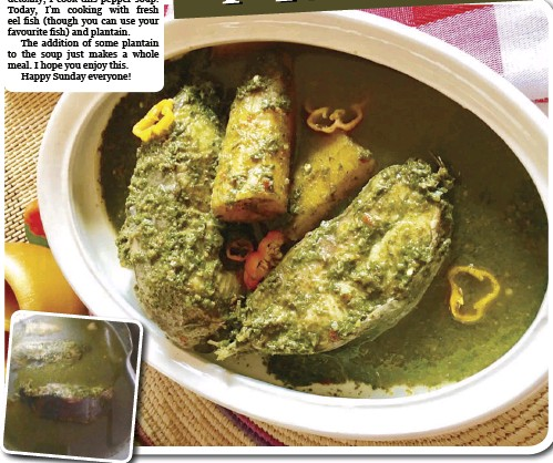 PressReader - The Punch: 2019-06-30 - Spicy herby eel and plantain