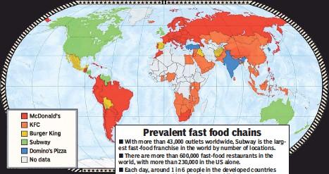 PressReader New York Post ATLAS DUBBED - Us map of fast food restaurants