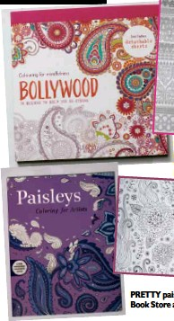BOLLYWOODis Packed With 70 Designs To Help You Destress P559 Fully Booked PRETTY Paisleys National Book Store And Powerbooks