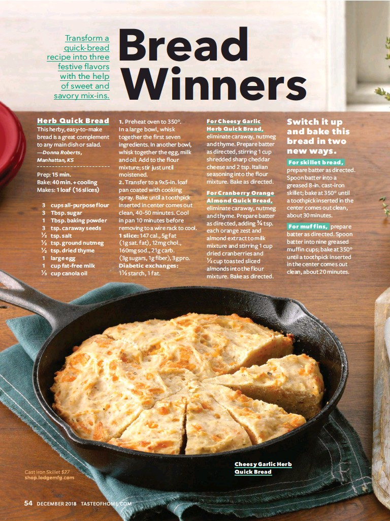 PressReader - Taste of Home: 2018-12-01 - Bread Winners