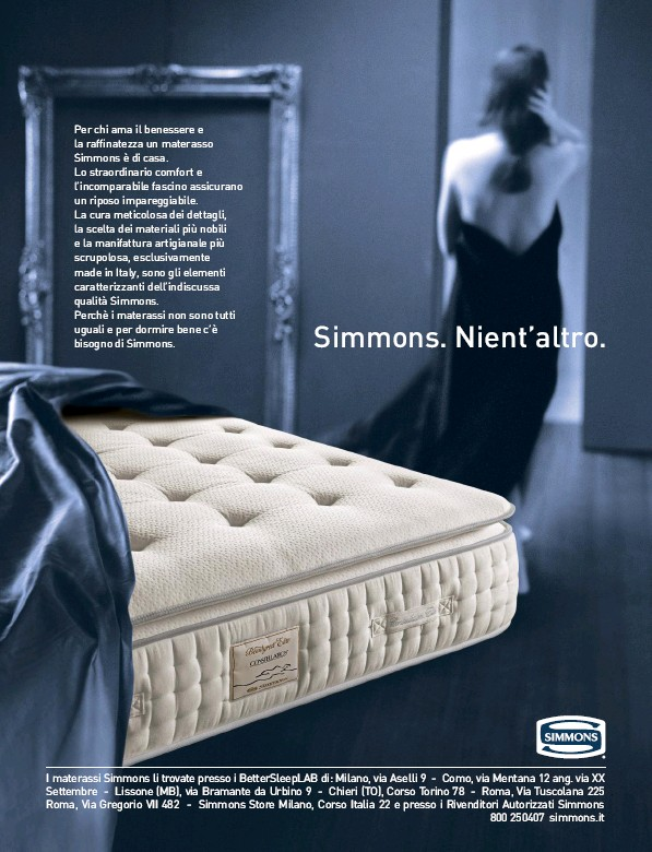 Simmons Materassi Roma.Pressreader Ad Italy 2019 06 20 Simmons Nient Altro