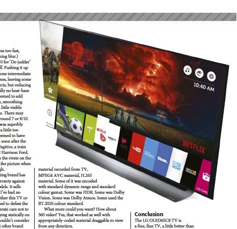 PressReader - Sound+Image: 2018-08-01 - LG OLED65C8 4K OLED TV