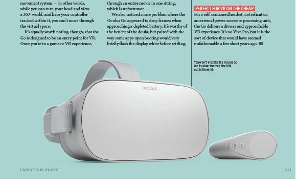 PressReader - TechLife Australia: 2018-08-01 - Oculus Go