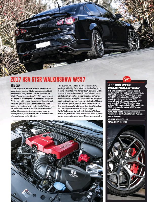 PressReader - NZV8: 2018-10-01 - 2017 HSV GTSR WALKINSHAW W557