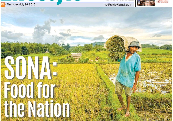 PressReader - Manila Bulletin: 2018-07-26 - SONA: Food for the nation