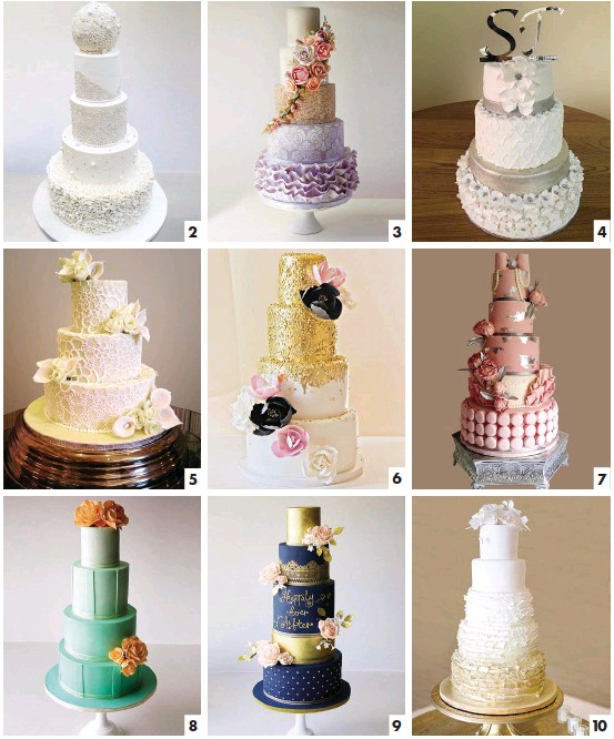 1 Tessas Bakery Cape Town And Edible Art Cakes Cake Second From Left 2 Belles Patisserie Johannesburg 3