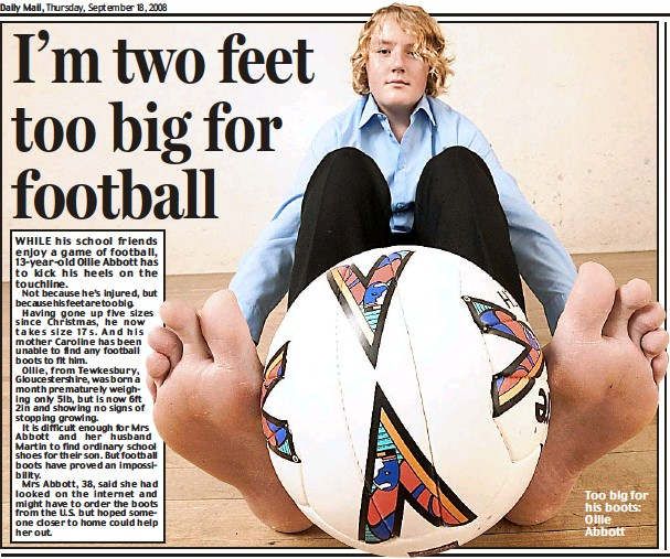 PressReader - Daily Mail: 2008-09-18 - I'm two feet too big