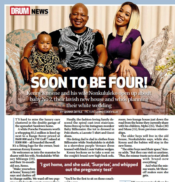 PressReader - DRUM: 2018-11-15 - Kenny Kunene & his wife