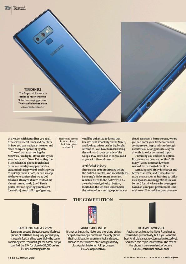 PressReader - Australian T3: 2018-11-05 - Samsung Galaxy Note9