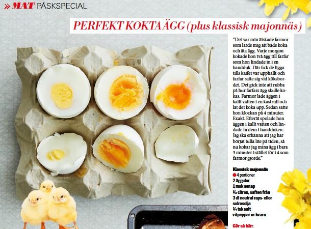 koka perfekta ägg