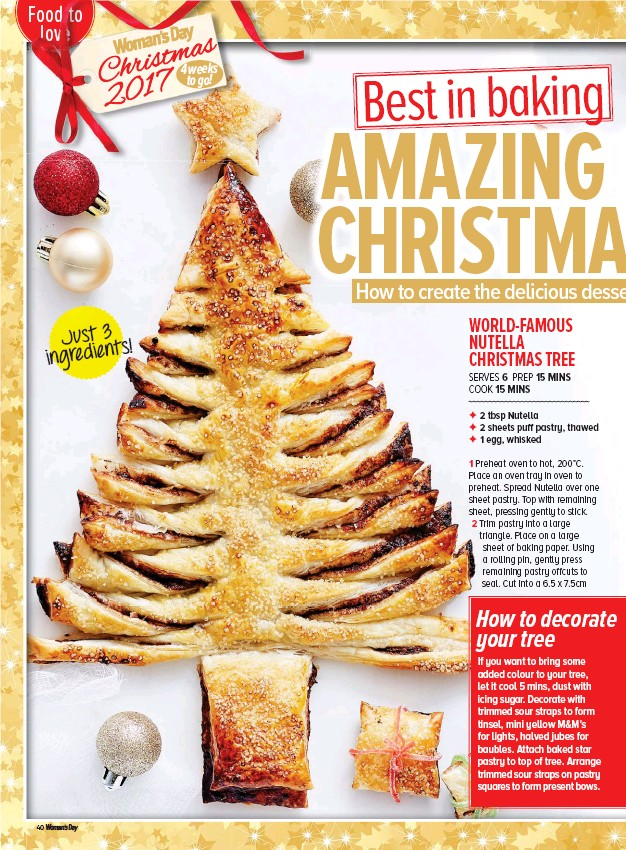 Nutella Christmas Tree.Pressreader Woman S Day Australia 2017 11 27 Amazing