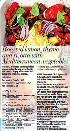PressReader - Daily Mail: 2019-04-18 - Roasted lemon, thyme and