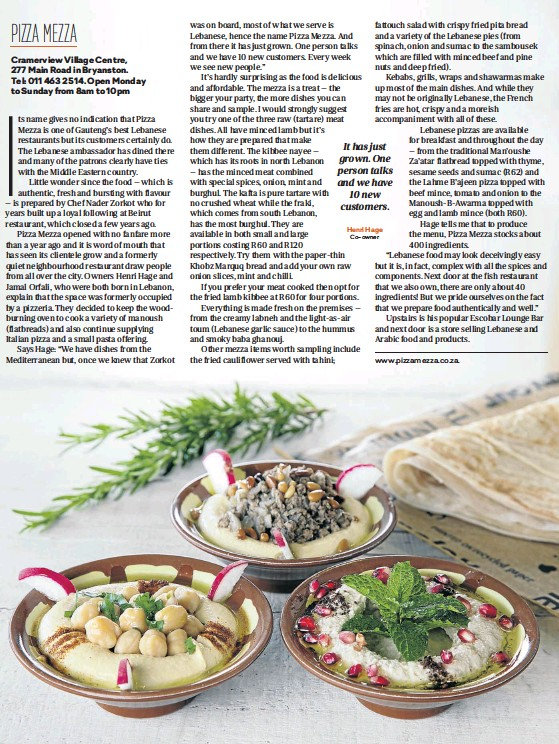 PressReader - Sunday Times: 2019-06-30 - AUTHENTICALLY LEBANESE
