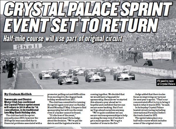 PressReader - Motor Sport News: 2018-08-15 - CRYSTAL PALACE