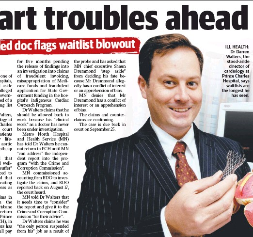 PressReader - The Courier-Mail: 2018-09-07 - Heart troubles
