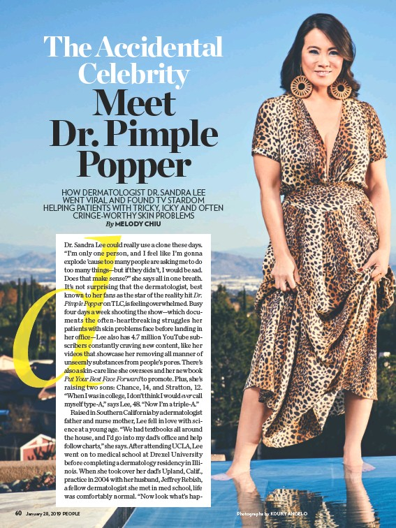 PressReader - People (USA): 2019-01-28 - DR  PIMPLE POPPER