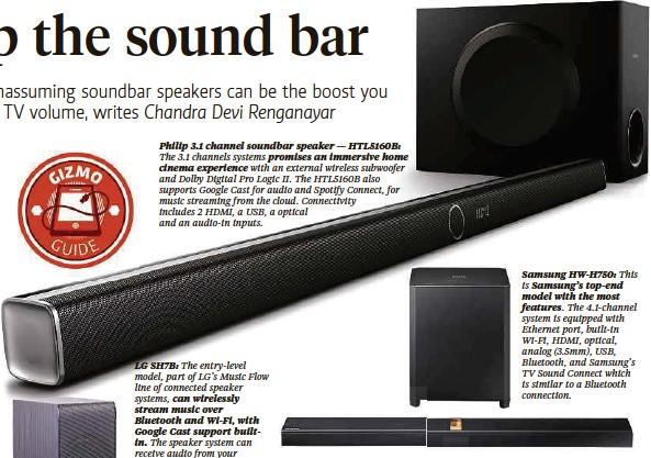 PressReader - New Straits Times: 2016-08-28 - Step up the sound bar