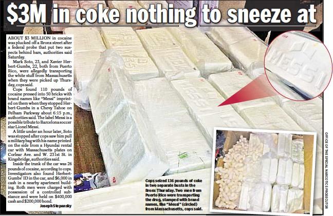 PressReader - New York Daily News: 2015-12-20 - $3M in coke