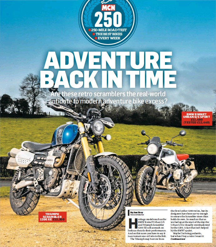 PressReader - MCN: 2019-04-17 - Retro adventure bikes go