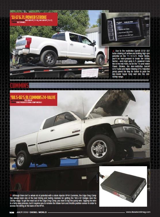 PressReader - Diesel World: 2018-07-01 - '98 5-02 5 9L