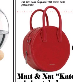 "ffce0d0a6e5c PressReader - NOW Magazine: 2018-11-29 - Matt & Nat ""Kate"" mini satchel"