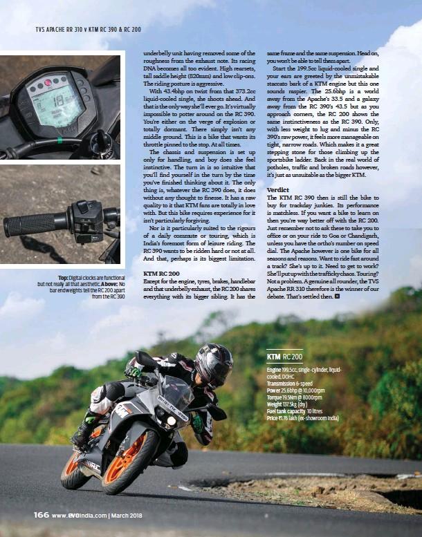 PressReader - Evo India: 2018-03-21 - RR310 v RC 390 & 200